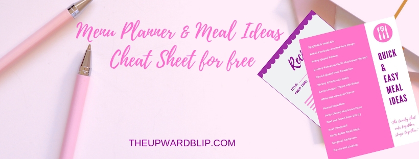 meal ideas and menu planner